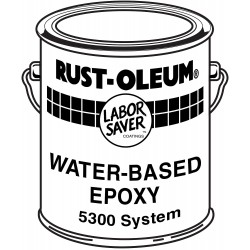 Rust-Oleum - 5369 - Red Epoxy Activator and Finish Kit, Gloss Finish, Size: 1 gal.