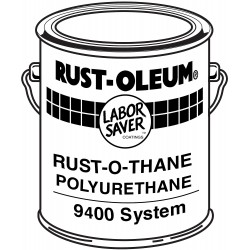 Rust-Oleum - 9492 - White Urethane Activator and Finish Kit, High Gloss Finish, Size: 1 gal.
