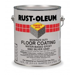 Rust-Oleum - 6082 - Silver Gray Epoxy Activator and Finish Kit, High Gloss Finish, Size: 1 gal.