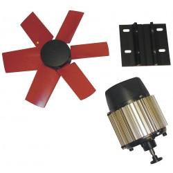 Vostermans - 7HX16 - 12-Dia. 1-Phase Corrosion Resistant Exhaust Fan Kit, 1660 Motor RPM
