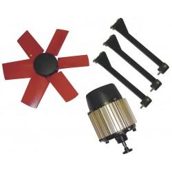 Vostermans - 7HX29 - 14-Dia. 1-Phase Corrosion Resistant Exhaust Fan Kit, 1660 Motor RPM