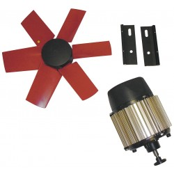 Vostermans - 7HX33 - 14-Dia. 1-Phase Corrosion Resistant Exhaust Fan Kit, 1625 Motor RPM