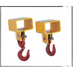 The Caldwell Group - 5S-1 1/2-6 - Forklift Lifting Hook, Single Fork, Single Swivel Hook, 3000 lb., Fork Pocket Size 6-1/2 W