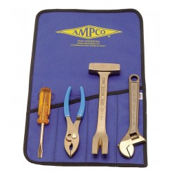 Ampco Safety Tools - M-46 - Tool Kit Non Sparking 4pc Factory Mutual Approved Beryllium Copper, Kt