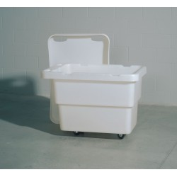 "Bayhead - UT-8 WHITE - Cube Truck, 3/8 cu. yd. Volume Capacity, 400 lb. Load Capacity, 24-1/4"" Overall Width"