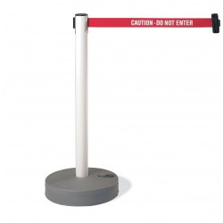 Tensator - 885-35-STD-NO-D4X-C - Barrier Post with Belt, Black and Yellow