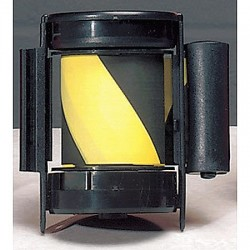 Tensator - CASSETTE-STD-NO-D4X-C - 7-1/2 ft. Replacement Belt Cassette, Black/Yellow Belt, Black Case