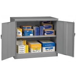 Tennsco - 1842 MED GRAY - Counter Height Cabinet, Unassembled, Gray