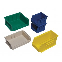 Quantum Storage Systems - QUS220YL - Hang and Stack Bin, Yellow, 7-3/8 Outside Length, 4-1/8 Outside Width, 3 Outside Height