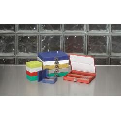 Other - 880145 - Microscope Slide Box, 25 Slots, Blue
