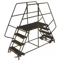 Ballymore / Garlin - DEP4-3660 - Rolling Work Platform, Steel, Dual Access Platform Style, 40 Platform Height