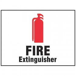 Accuform Signs - MFXG401VP - Fire Extinguisher Sign, 7 x 10In, PLSTC