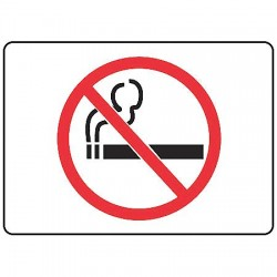 Accuform Signs - MSMK417VP - Info Sign No Smoking Pictorial 7 In. Hx10 In. W Plastic Ansi Z535.2 - 1998 Accuform Mfg Inc, Ea