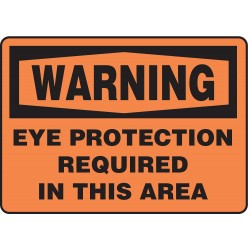 Accuform Signs - MPPE315VA - Warning Sign Eye Protection Required 7x10 Aluminum Ansi Z535.2 - 1998 Accuform Mfg Inc, Ea