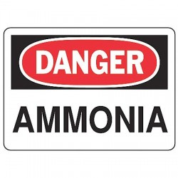 Accuform Signs - MCHL087VS - Danger Sign Ammonia 7x10 Self Adhesive Regusafe Ansiz535.2-1998 Accuform Mfg Inc, Ea