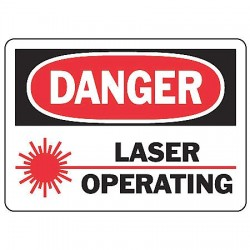 Accuform Signs - MRAD021VS - Danger Sign Laser Operating 7x10 Self Adhesive Regusafe Ansi Z535.2-1998 Accuform Mfg Inc, Ea