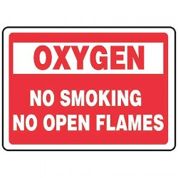 Accuform Signs - MCHL936VP - Info Sign Oxygen No Smoking 10x14 Plastic Accuform Mfg Inc, Ea