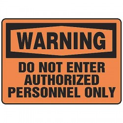 Accuform Signs - MADM324VS - Warning Sign Do Not Enter 7x10 Self Adhesive Ansi Z535.2-1998 Accuform Mfg Inc, Ea