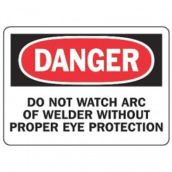 Accuform Signs - MWLD004VA - Personal Protection, Danger, Aluminum, 7 x 10, With Mounting Holes, Not Retroreflective