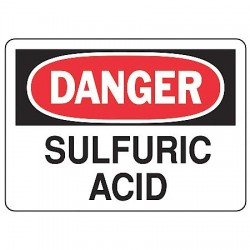 Accuform Signs - MCHL077VA - Danger Sign Sulfuric Acid 7x10 Aluminum Regusafe Ansi Z535.2 - 1998 Accuform Mfg Inc, Ea