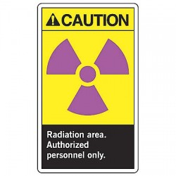 Accuform Signs - MRAD635VS - Caution Sign Radiation Area 10x7 Self Adhesive Ansi Z535.4 - 1998 Accuform Mfg Inc, Ea