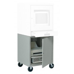 Edsal - CSC6900BGY - 21 x 22-1/2 x 26 Steel Mobile Computer Cabinet Base, Light Gray