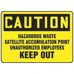 Accuform Signs - MCHL644VP - Caution Sign Hazardous Waste 10x14 Plastic Regusafe Ansi Z535.2 - 1998 Accuform Mfg Inc, Ea