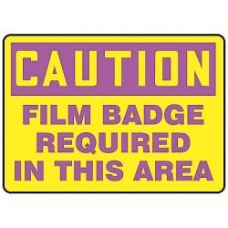 Accuform Signs - MRAD628VA - Caution Sign Film Badge Required 7x10 Aluminum Regusafe Ansi Z535.2-1998 Accuform Mfg Inc, Ea