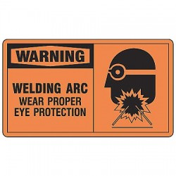Accuform Signs - MWLD304VS - Warning Sign Welding Arctic 7x10 Self Adhesive 29 Cfr 1910.145 Accuform Mfg Inc, Ea