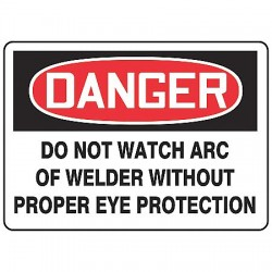 Accuform Signs - MWLD003VA - Danger Sign Do Not Watch 10x14 Aluminum Regusafe Ansi Z535.2-1998 Accuform Mfg Inc, Ea