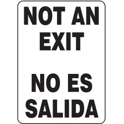 Accuform Signs - SBMADC523VP - Exit Sign Not An Exit Bilingual 14x10 Plastic 29 Cfr 1910.145 Accuform Mfg Inc, Ea