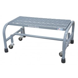 Cotterman - 1001N2626A1E10B3C1P1 - Steel Rolling Platform, 10 Overall Height, 450 lb. Load Capacity, Number of Steps: 1