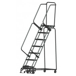 Ballymore / Garlin - WA072414X - Garlin Rolling Ladder 7 Step Knock Down 14 In Deep Top Step Expanded Metal Steel Gray, Ea