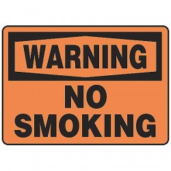 Accuform Signs - MSMK304VP - Warning Sign No Smoking 7x10 Plastic Ansi Z535.2-1998 Accuform Mfg Inc, Ea