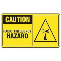 Accuform Signs - MRFQ601VA - Caution Sign Radio Frequency Hazard 7x10 Aluminum 29 Cfr 1910.145 Accuform Mfg Inc, Ea