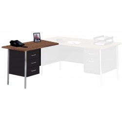 Edsal - LW4224BW - Left Desk Return, 42 x 29 x 24 In, Black
