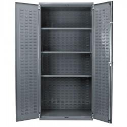 Akro-Mils / Myers Industries - AC36243AS - Bin Cabinet 0 Bin 78x36x18 Flush Door Gray 16 Gauge Steel 3 Shelf Akro-mils 358 Pound, Ea