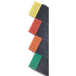 "Notrax - 522S3072BY - Drainage Mat, Black with Yellow Border, 6 ft. x 2 ft. 6"", PVC, 1 EA"