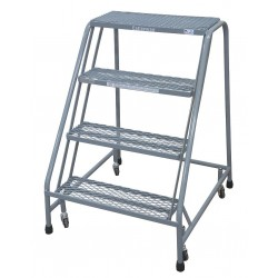 Cotterman - 1004N2630A1E10B3C1P6 - 4-Step Rolling Ladder, Expanded Metal Step Tread, 40 Overall Height, 450 lb. Load Capacity