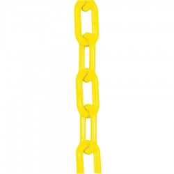 Mr. Chain - 30002-100 - Plastic Chain, 1-1/2 In x 100 ft, Yellow