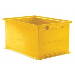 SSI Schaefer - 1462.191305YL1 - Straight Wall Container, Yellow, 5H x 19L x 13W, 1EA