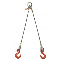 Lift-All - 38I2LBX8 - 8 ft. Two Leg Bridle Wire Rope Sling
