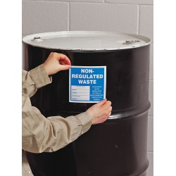Accuform Signs - MHZW505 - Wst Lbl Drain Used Oil-vinyl, Pk