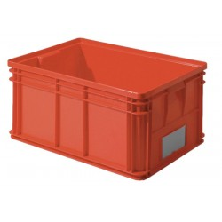 SSI Schaefer - 1461.261912RD1 - Straight Wall Container, Red, 12H x 26L x 19W, 1EA