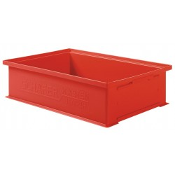SSI Schaefer - 1462.191312RD1 - Straight Wall Container, Red, 12H x 19L x 13W, 1EA