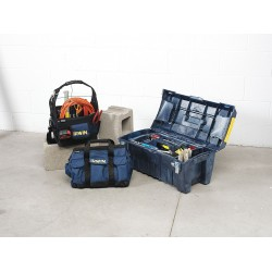 IRWIN Industrial Tool - 4402011 - Tool Tote Electricians Irwin 12.5 In Hx11.25 In Wx8.75 In D Nylon Blue, EA