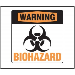 Accuform Signs - PSP773 - Biohazard, Warning, Plastic, 8 x 8, Not Retroreflective