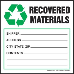 "Accuform Signs - MHZW41PSC - Self Adhesive Paper Hazardous Waste Label, 6"" Height, 6"" Width"