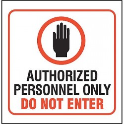 Accuform Signs - PSP120 - Admittance Sign, 6 x 8-1/2In, ACRYL, ENG