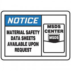 Accuform Signs - LHCM800VSP - Safety Label, 3-1/2 In. H, 5 In. W, PK5